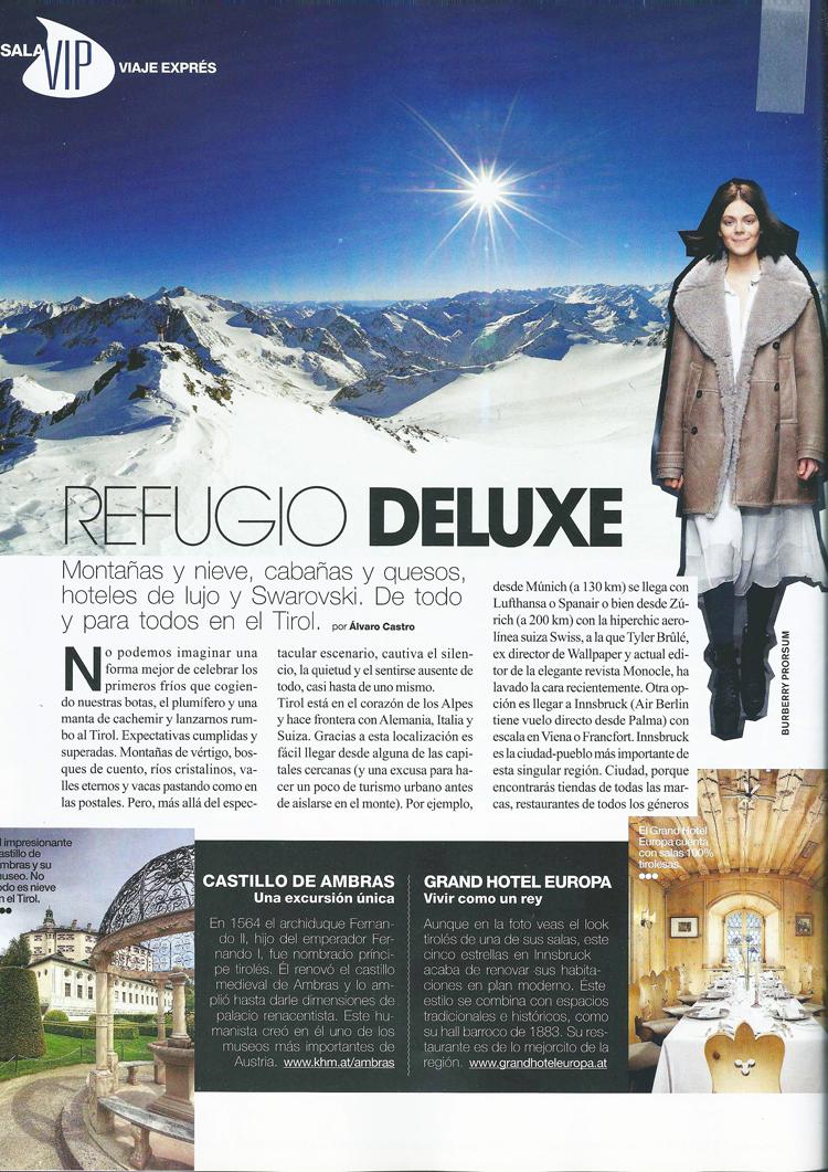 Refugio deluxe. Noviembre 2009