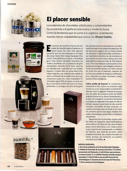 Chocolates Españoles. 29 Noviembre 2009