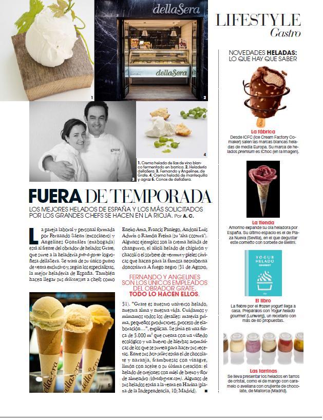 Los mejores helados de España. Noviembre de 2014