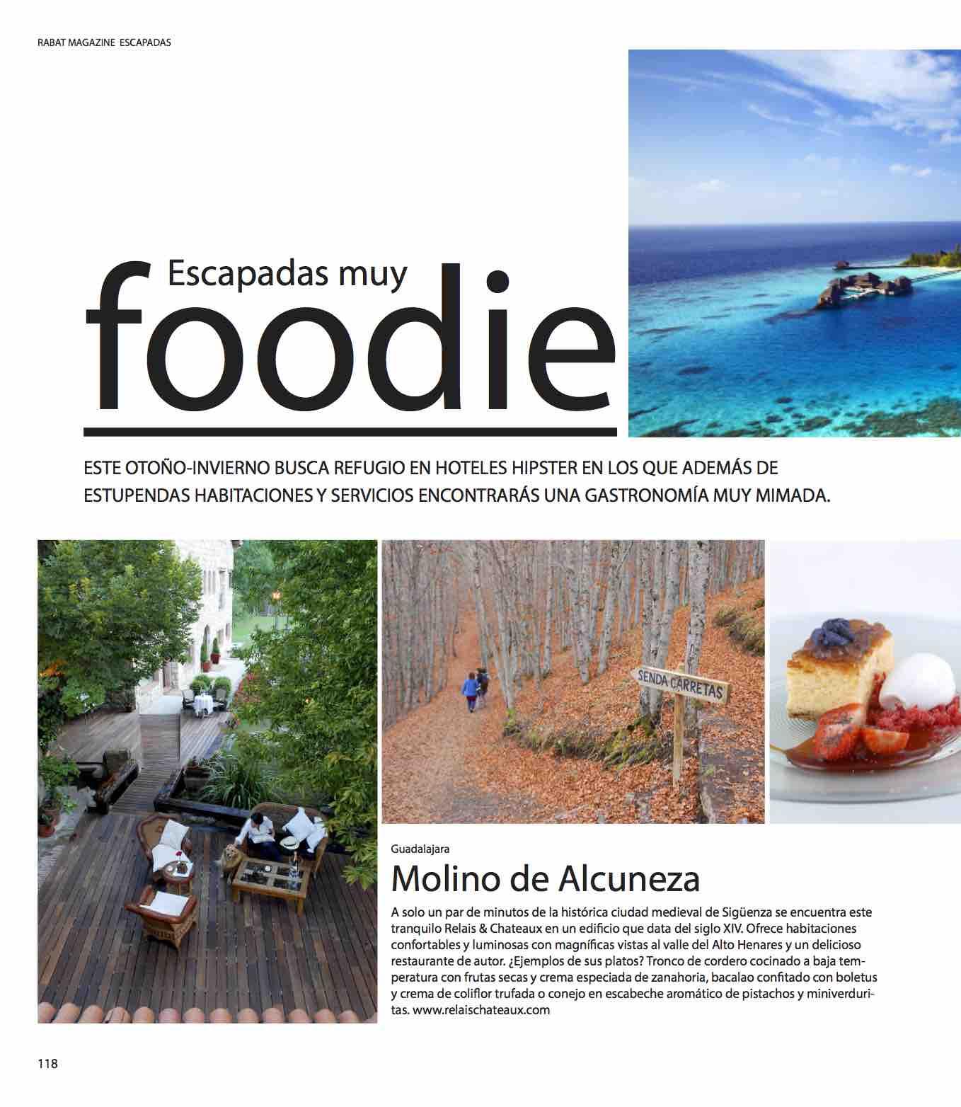 Escapadas muy foodie/ otoño 2015-invierno 2016