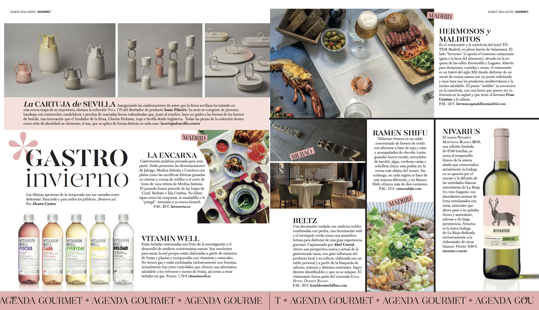 Agenda Gourmet/ Otoño-invierno 2017-18