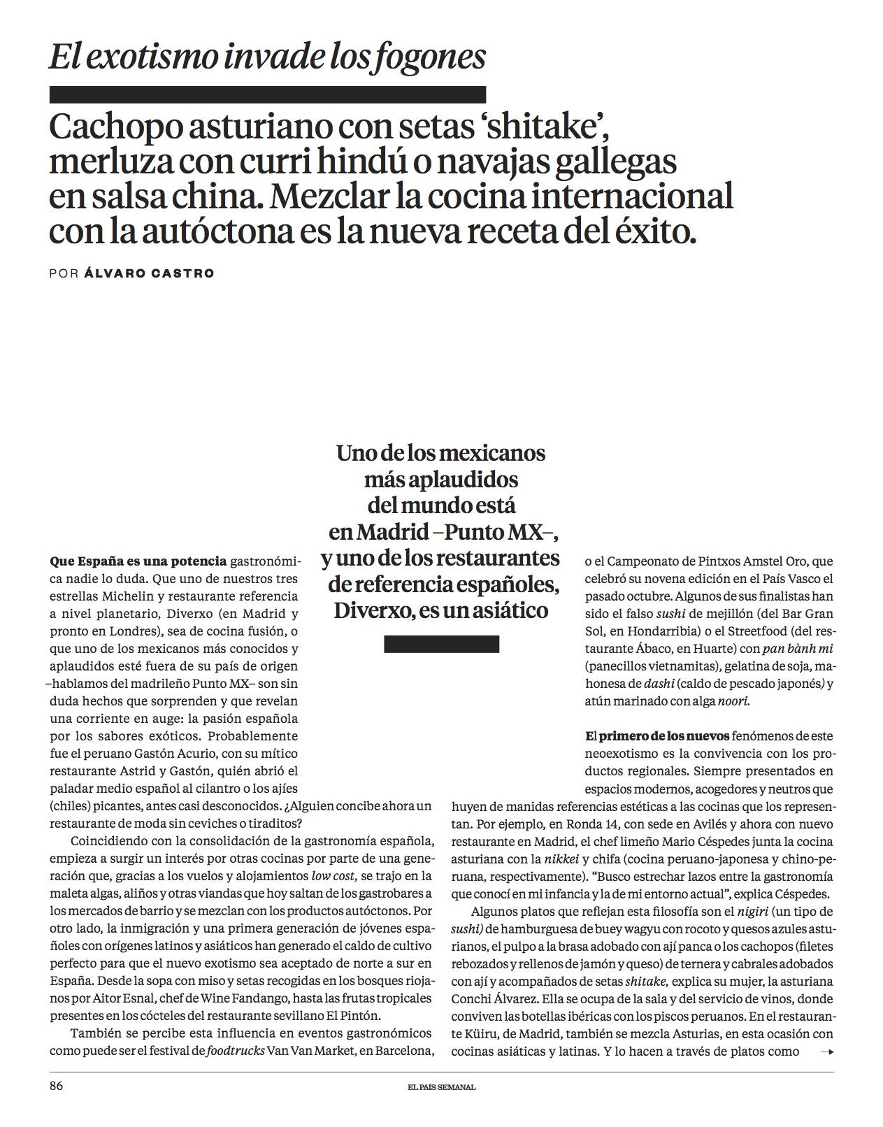 El nuevo exotismo/ El País Semanal