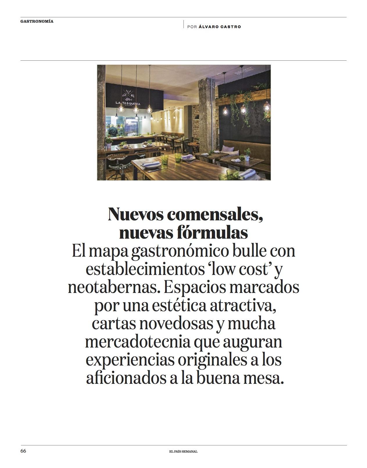 La cocina que viene/ El País Semanal