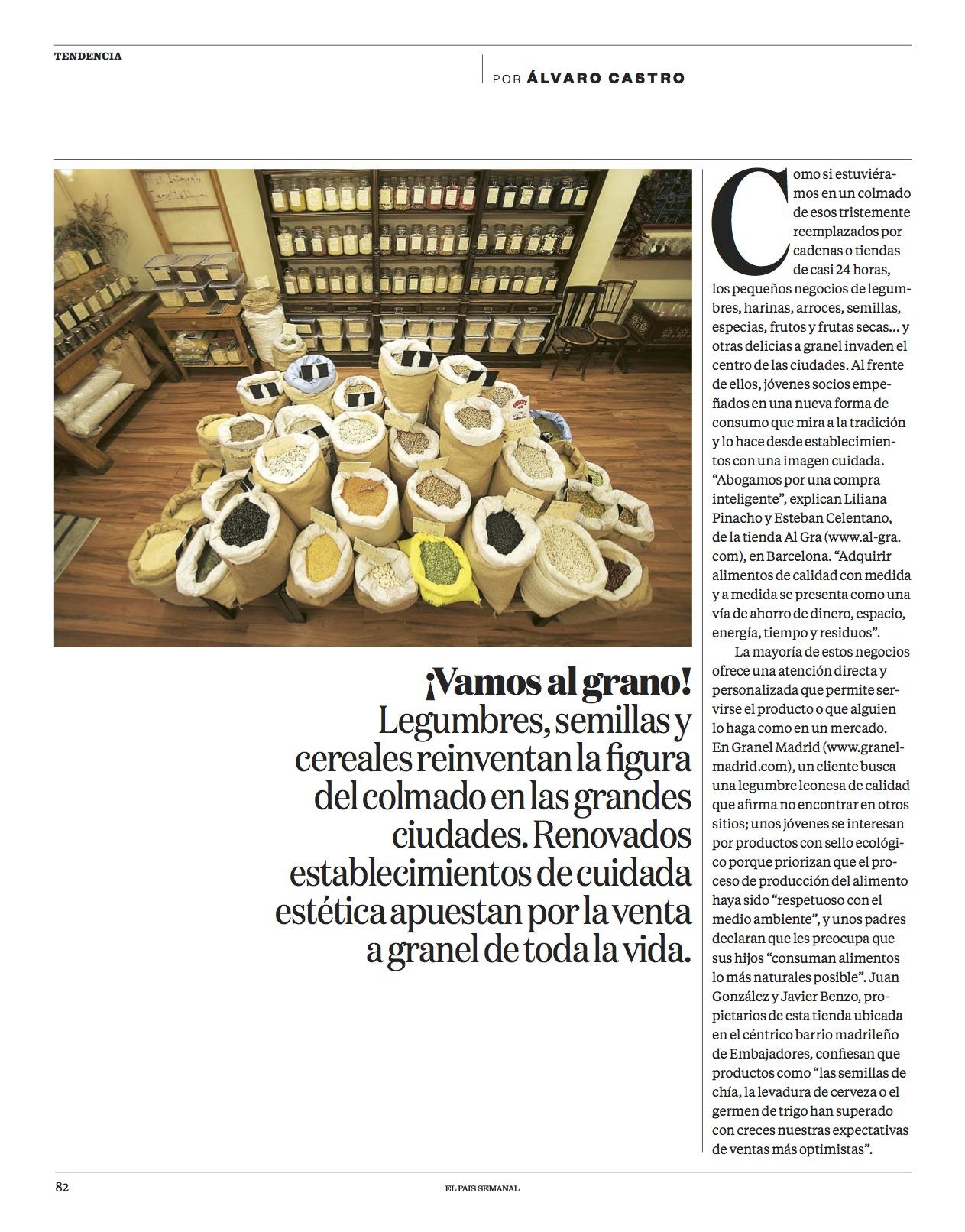 Vamos al grano/ El País Semanal