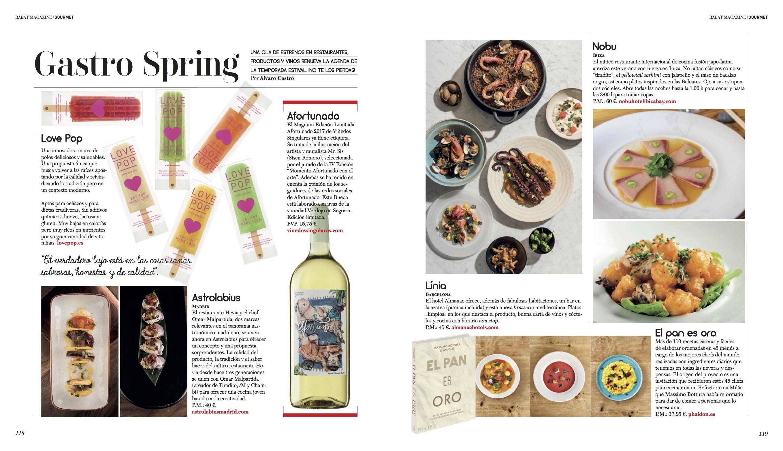 Agenda Gourmet/ Primavera-Verano 2018