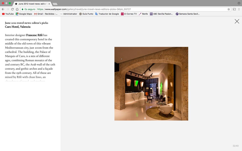 Caro Hotel/ June-Junio 2012