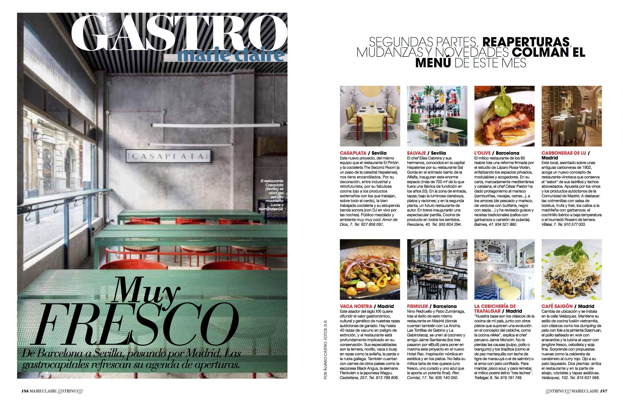 News Gastro/ Mayo 2018