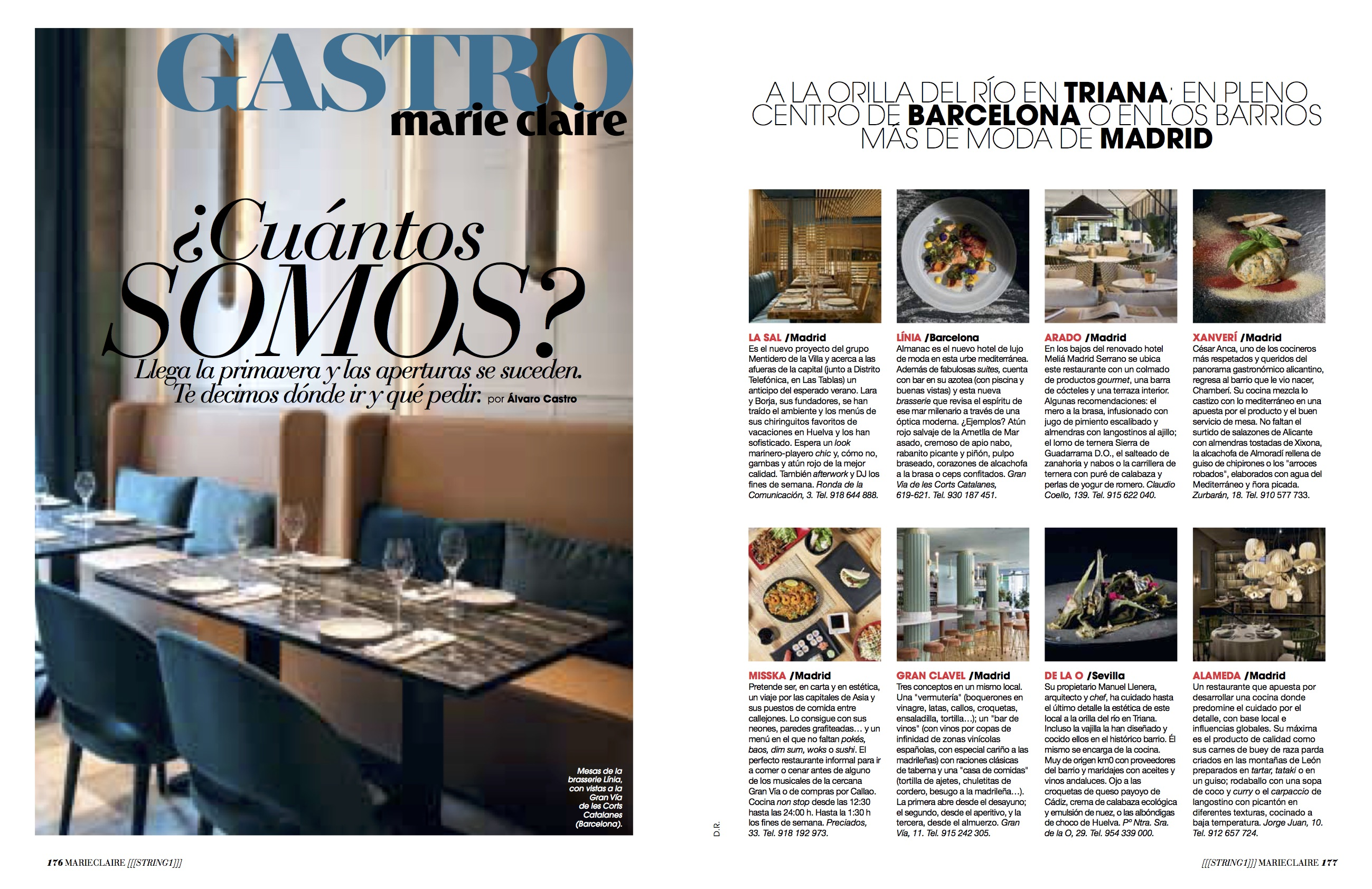 News Gastro Restaurantes/ Abril 2018