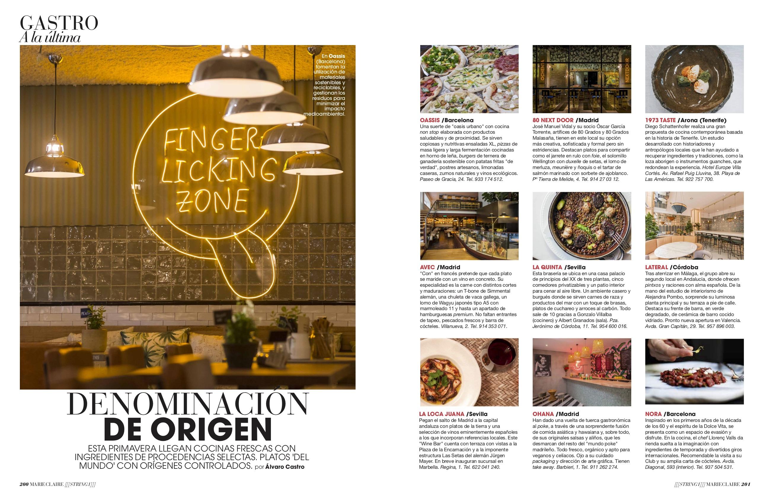 News Gastro Restaurantes/ Marzo 2019